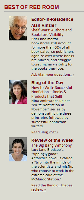 "Write Nonfiction in November gets Red Room ""Best Blog"" Honor"
