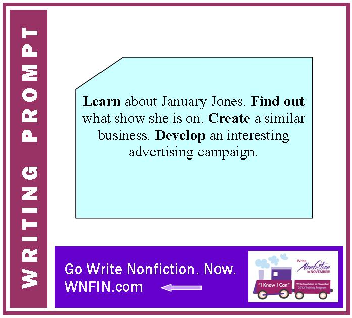 Writing Prompt: Create an Ad Campaign Based on January Jones' Show