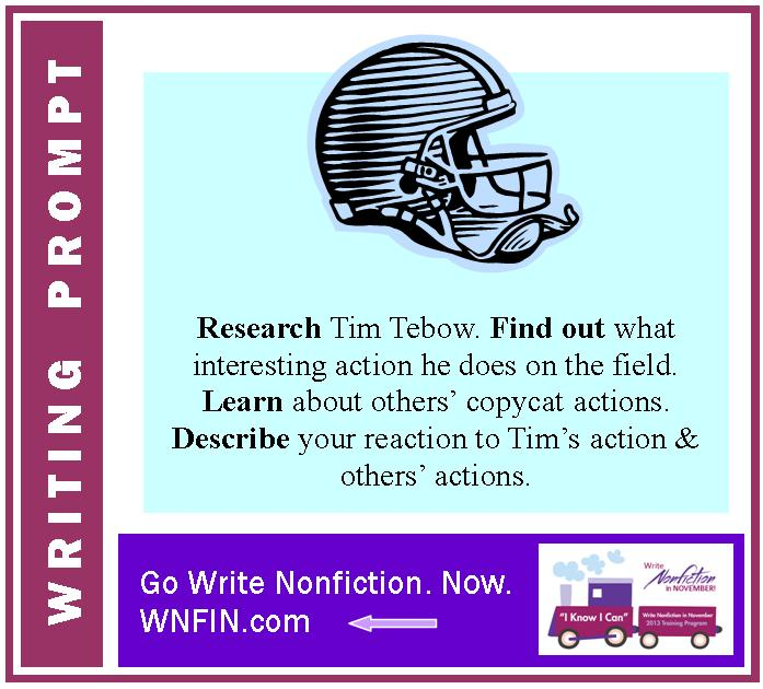 Writing Prompt: Describe Your Reaction to Tim Tebow's Action on the Field