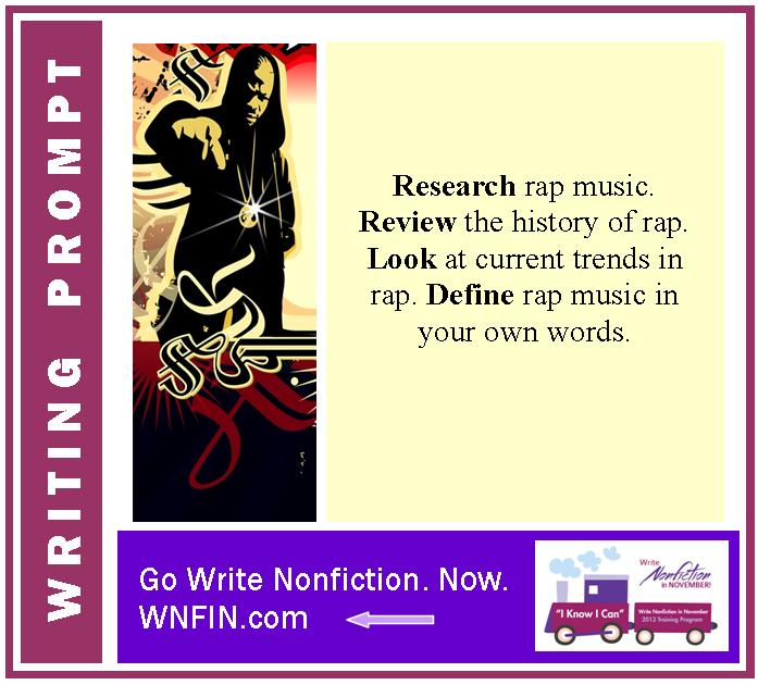 Writing Prompt: Define Rap Music By Considering its History and Current Styles