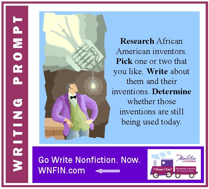 Writing Prompt: Write About African American Inventors and their Inventions