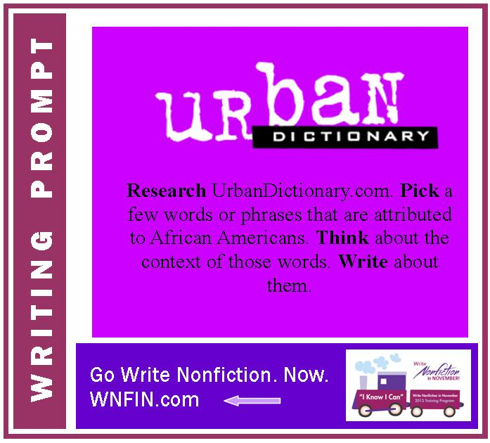 Writing Prompt: Write about Words found in UrbanDictionary.com