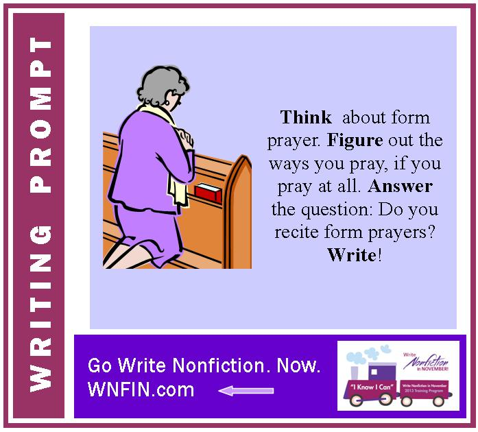 Writing Prompt: Do You Recite Form Prayers?