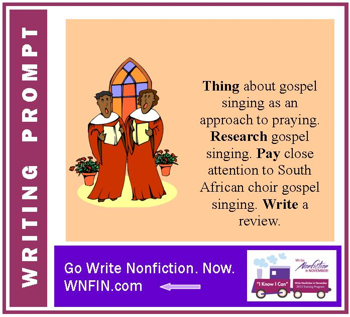 Writing Prompt: Explore and Review the Gospel Singing Approach to Prayer