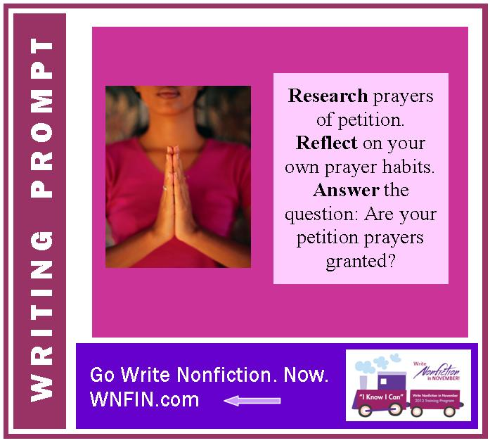 Writing Prompt: Are Your Prayers of Petition Granted?