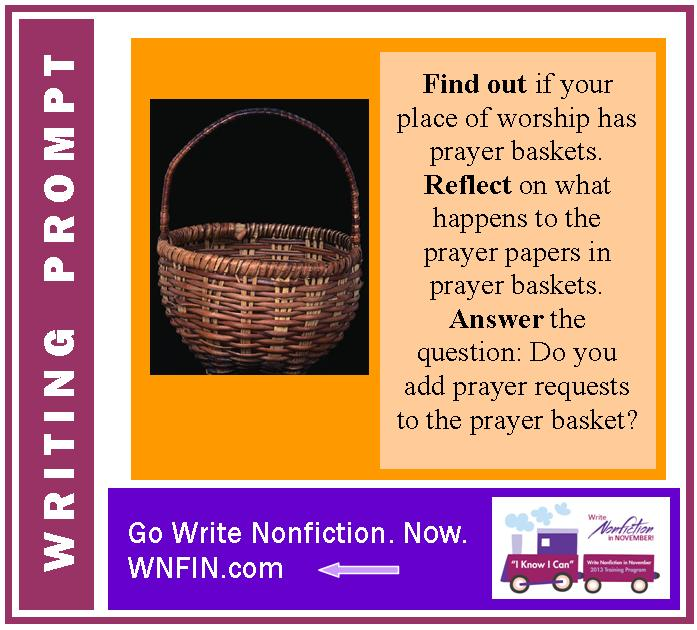 Writing Prompt: Do You Add Prayer Requests to the Prayer Basket?