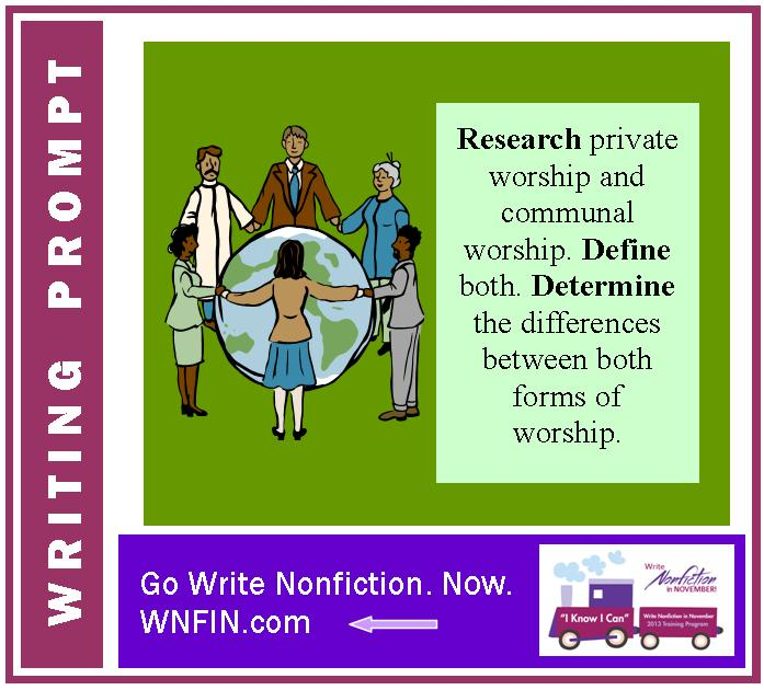 Writing Prompt: What is the Difference Between Communal and Private Worship?