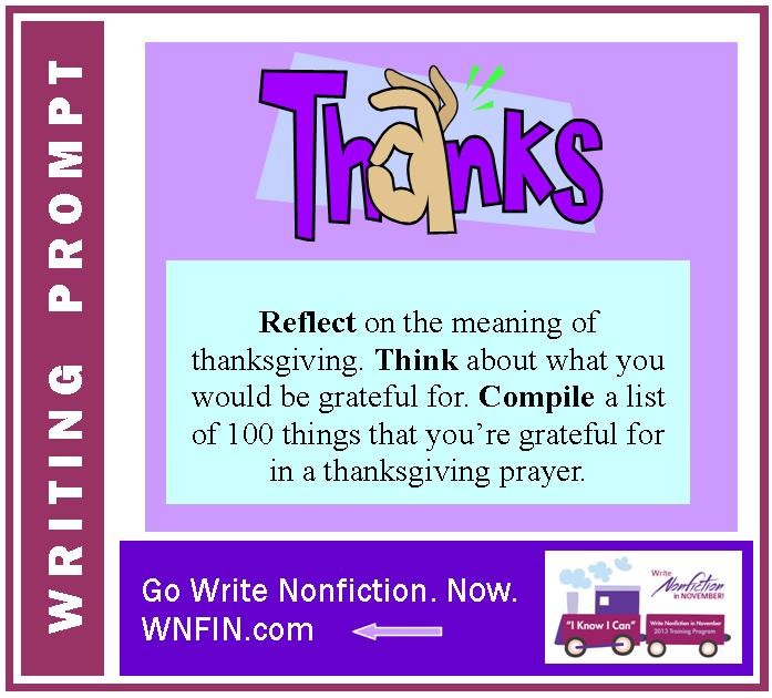 Writing Prompt: Express Gratitude for 100 Things in a Thanksgiving Prayer