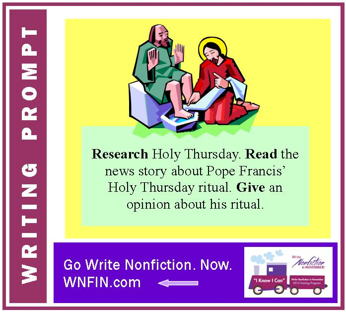 Writing Prompt: Give an Opinion of Pope Francis' Holy Thursday Ritual