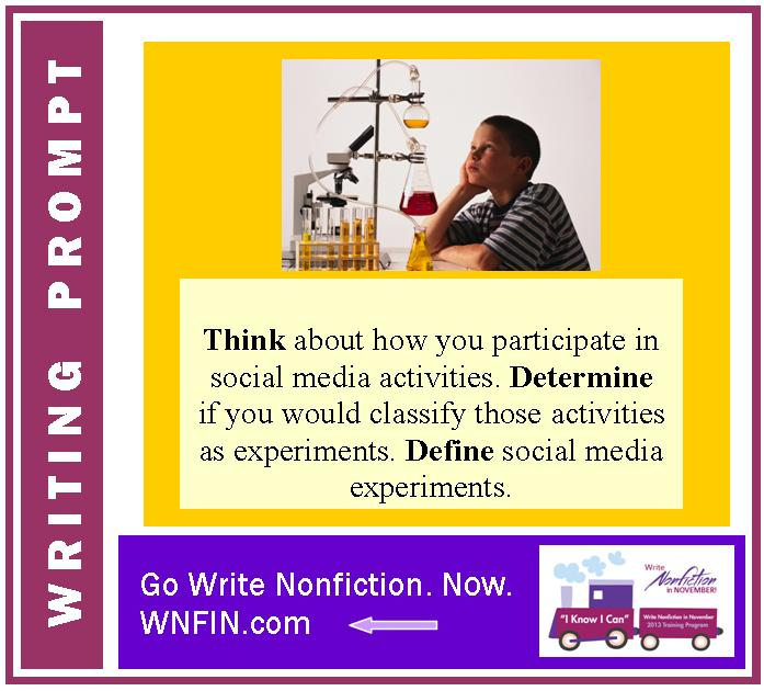 Writing Prompt: Define Social Media Experiments