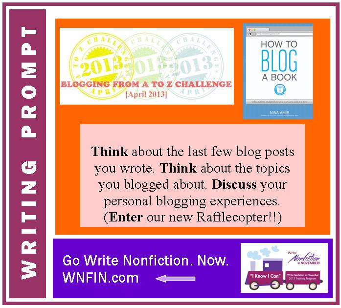 M is for Magnificient Writing Prompt: Personal Blogging Experiences