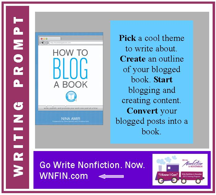 Writing Prompt: Attempt to Blog a Book During April's NaBoBloMo Event!