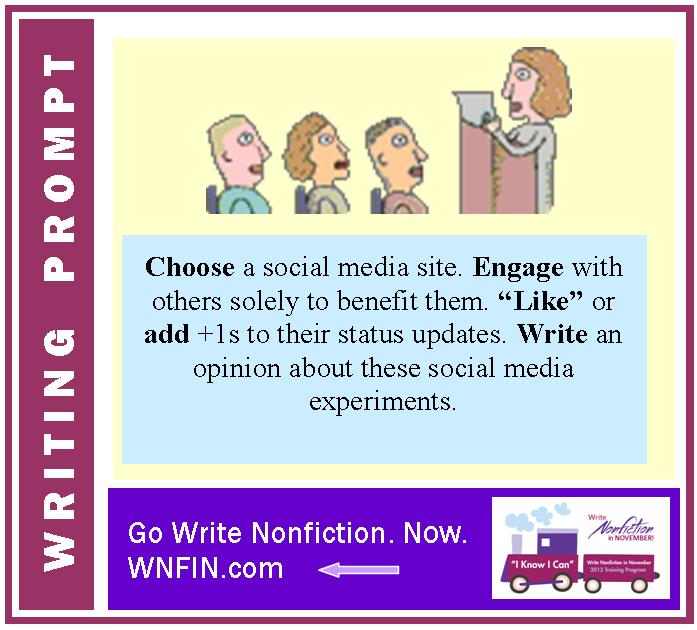 Writing Prompt: Provide an Opinion on Engaging to Benefit Others