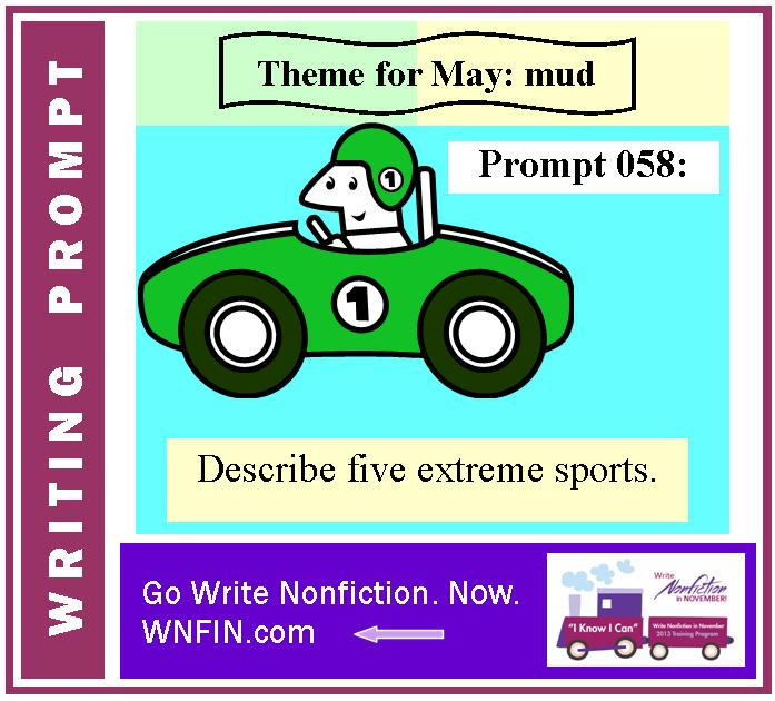 Writing Prompt: Describe Five Extreme Sports