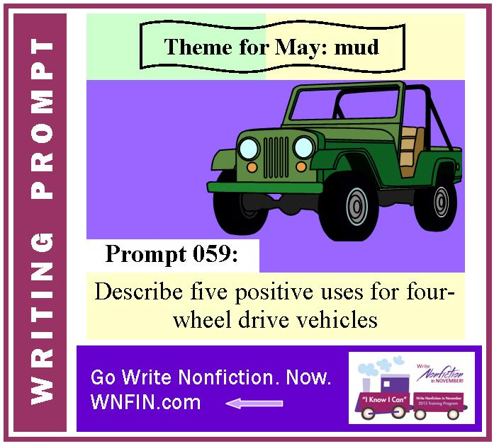 Writing Prompt: Describe Five Positive Uses for Four-Wheel Drive Vehicles