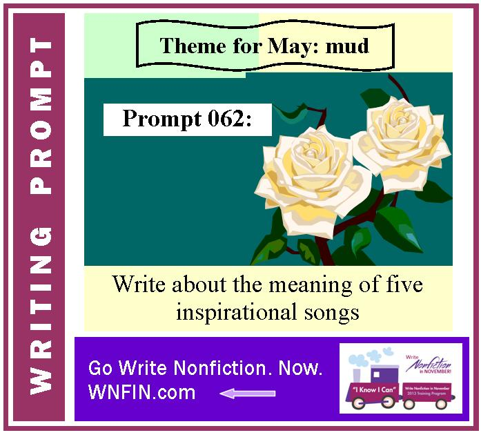 Writing Prompt: Write About the Meaning of Five Inspirational Songs