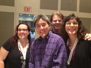 I met Guy Kawasaki, Shawn Welsh and Peg Fitzpatrick at BEA's uPubU event.