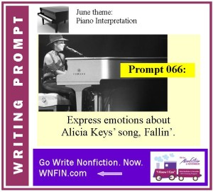 Writing Prompt: Express Emotions About Alicia Keys' Fallin'