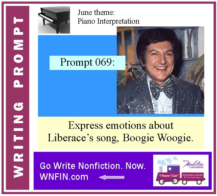 Writing Prompt: Express Emotions About Liberace's Boogie Woogie