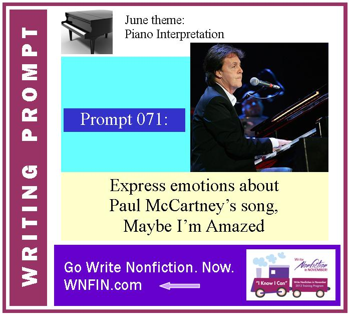 Writing Prompt: Express Emotions About Paul McCartney's Maybe I'm Amazed