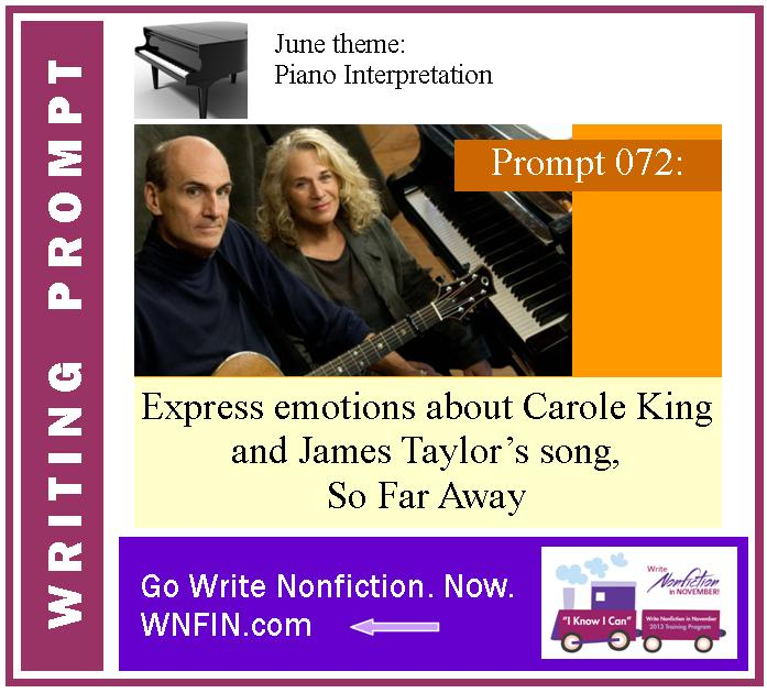 Writing Prompt: Express Emotions About King and Taylor's So Far Away