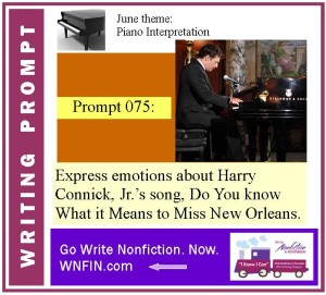 Writing Prompt: Express Emotions About Connick Jr.'s Miss New Orleans