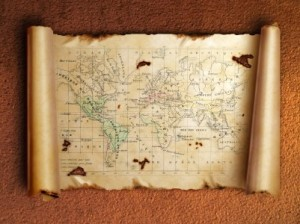 Create a map for your book by developing a table of contents