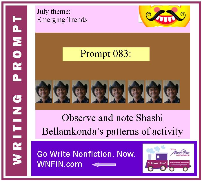 Writing Prompt: Observe and Note Bellamkonda's Patterns of Activity