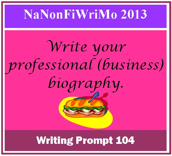 Writing Prompt Write Your Professional Business Biography