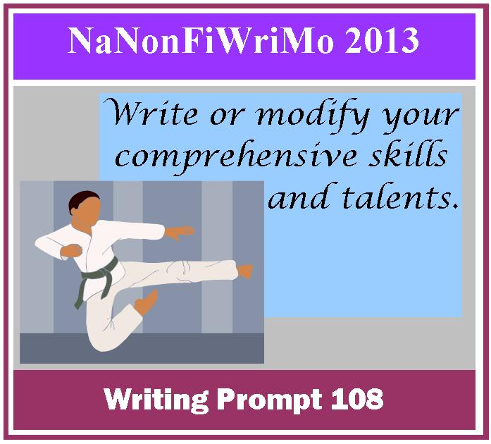 Writing Prompt: Write or Modify Your Comprehensive Skills, Talents