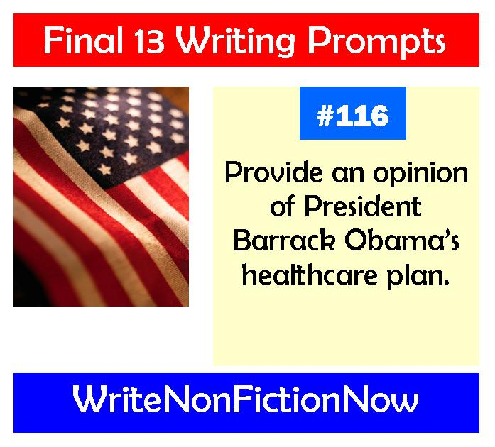 Final 13 Nonfiction Writing Prompts: Write About Politics