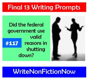 Writing Prompt: Did the Federal Government Have Valid