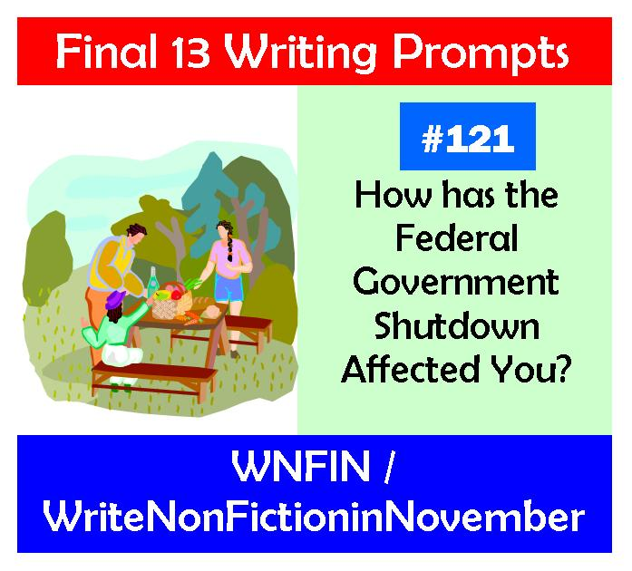 Writing Prompt: Has the Federal Government Shutdown Affected You?