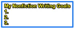 My Writing Goals