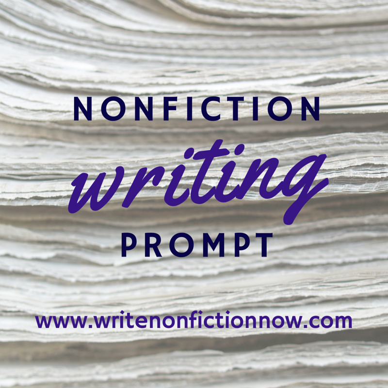 writing prompts for nonfiction writers