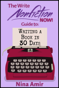 Write a nonfiction book in 30 days