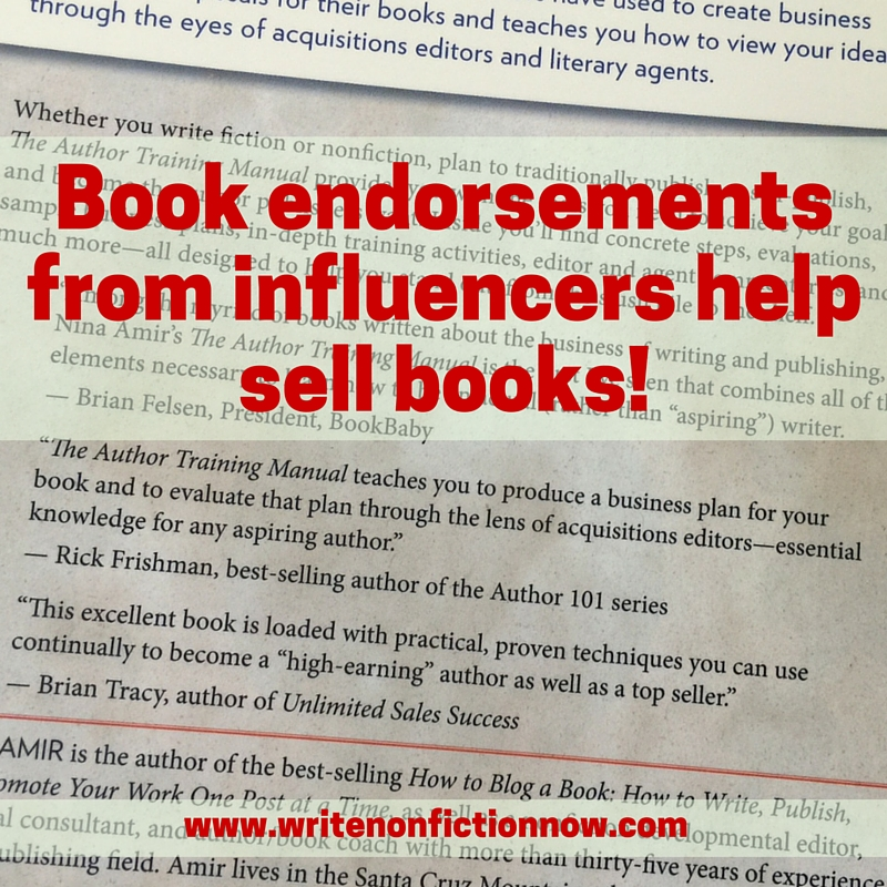 pitch influencers to get impactful book blurbs