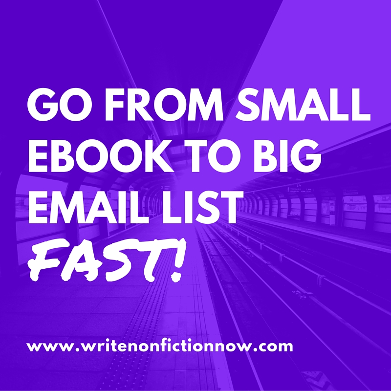 build a mailing list with a book