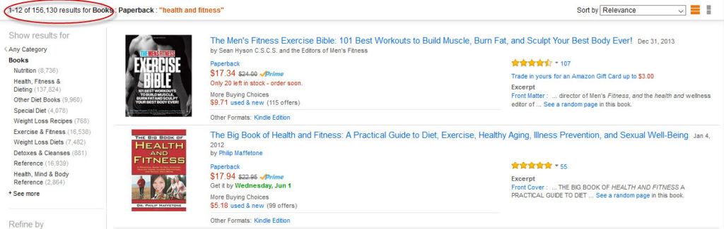 health fitness book lots