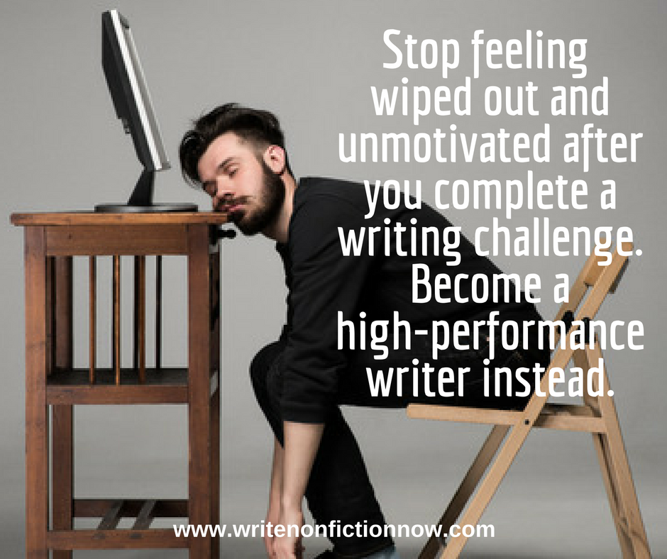 post writing challenge slump