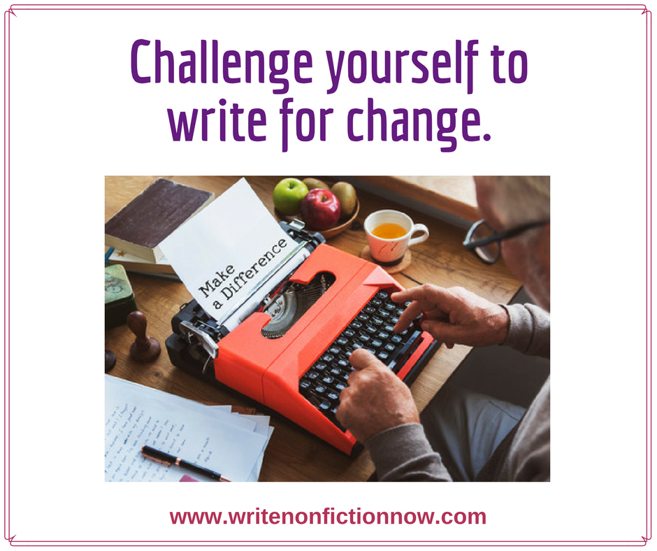 February Nonfiction Writing Challenge: Write for Change