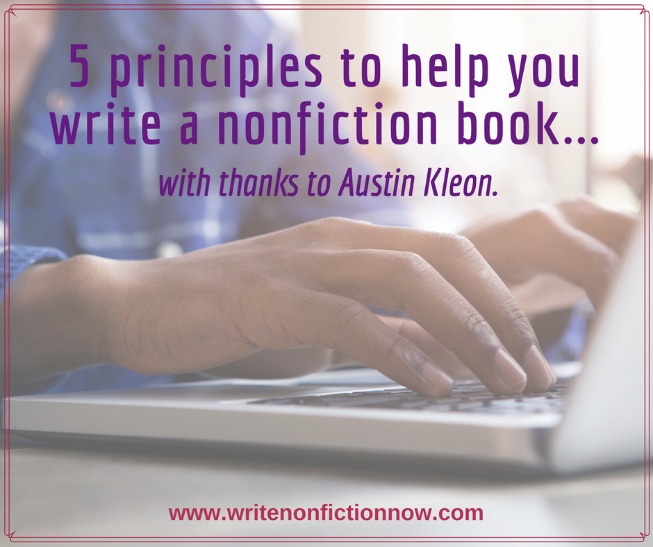 write a nonfiction book