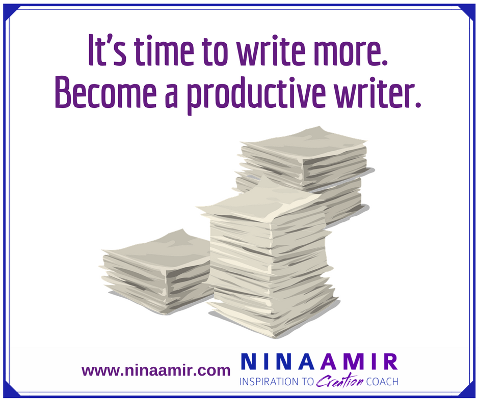become a productive writer; write more daily