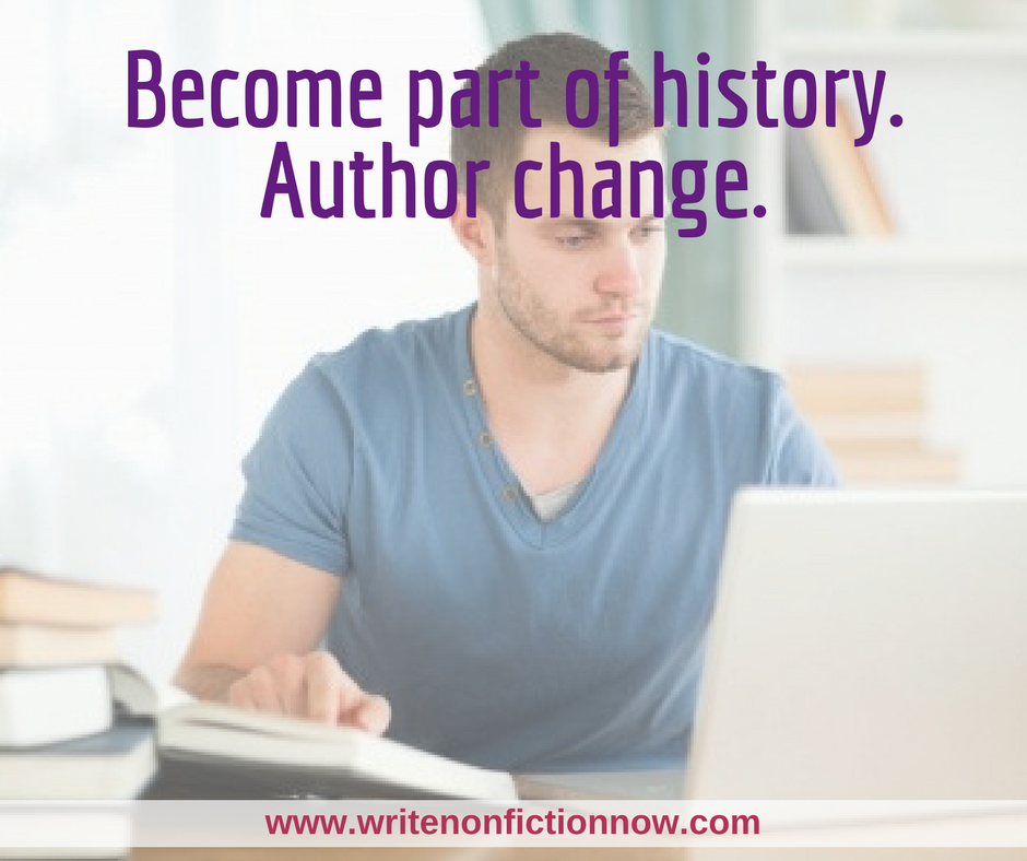 How to Join the Grand Tradition of Authoring Change