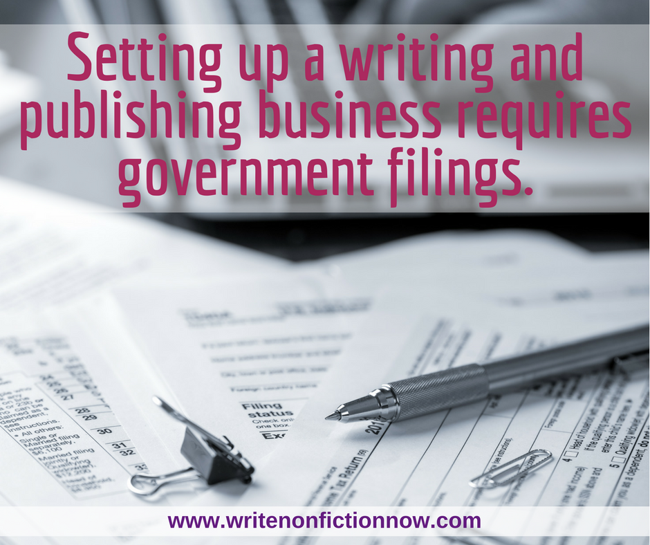 government forms for writers and authors