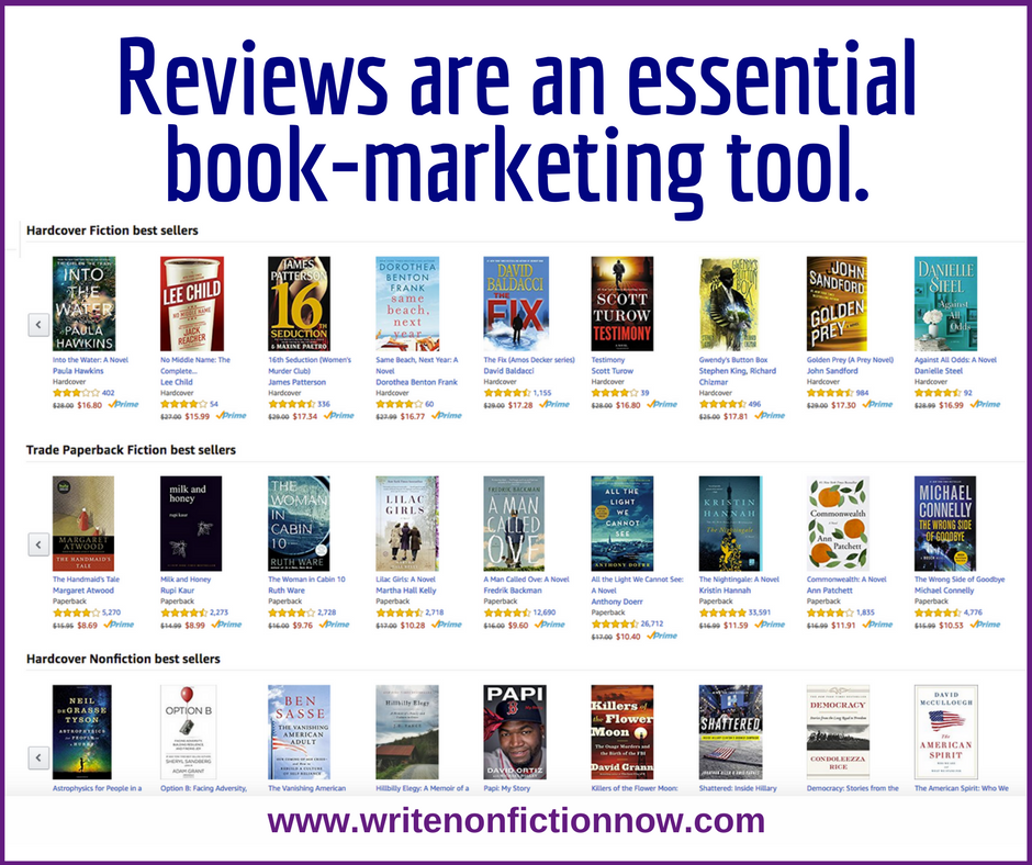 book reviews--essential to marketing plan