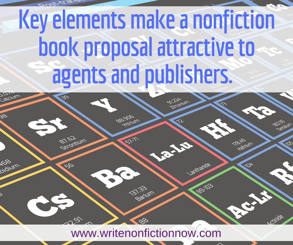 elements of a book proposal