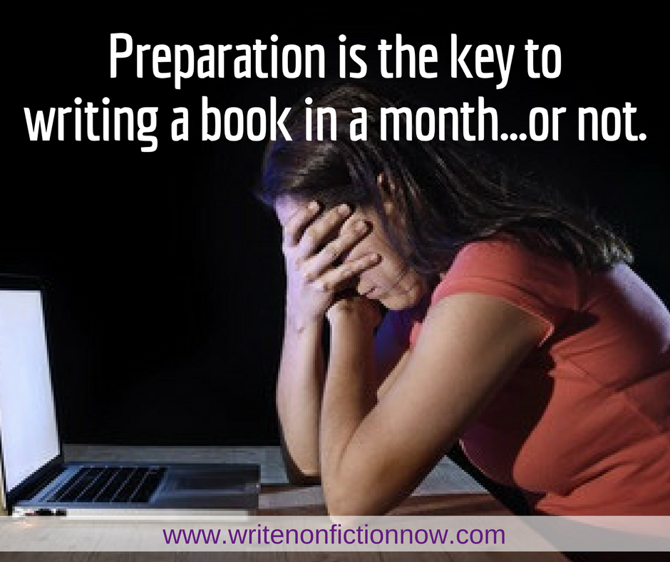 How to write a book in a month