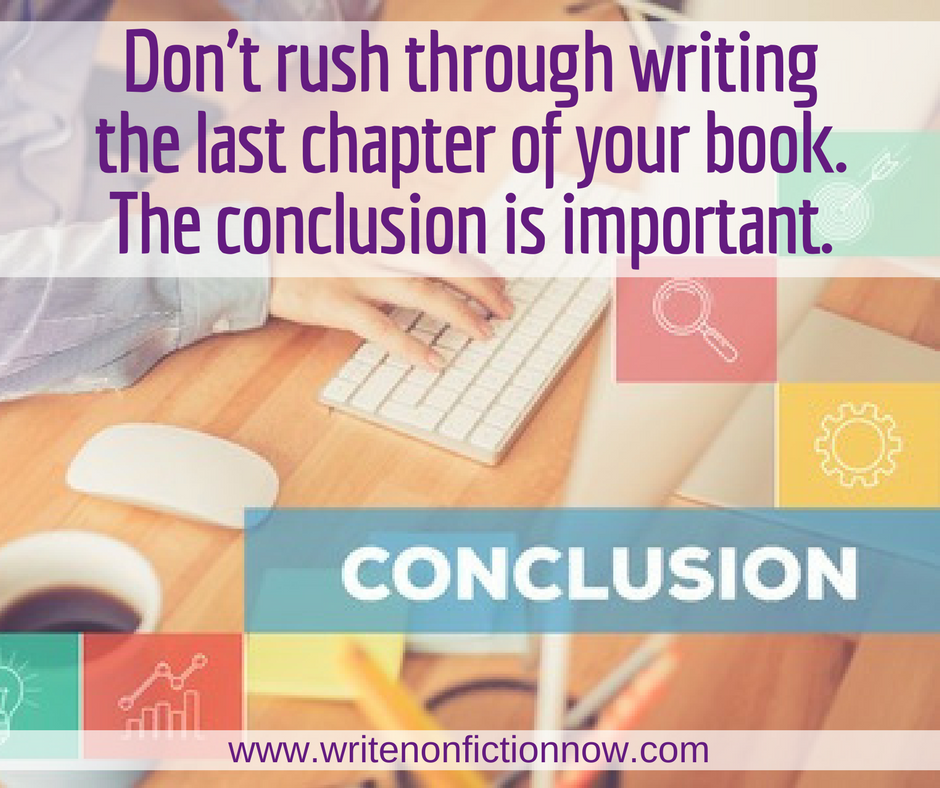 Writing the Perfect Conclusion for your Nonfiction Book