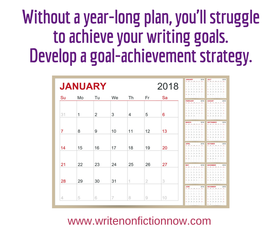nonfiction writing goals plan your year